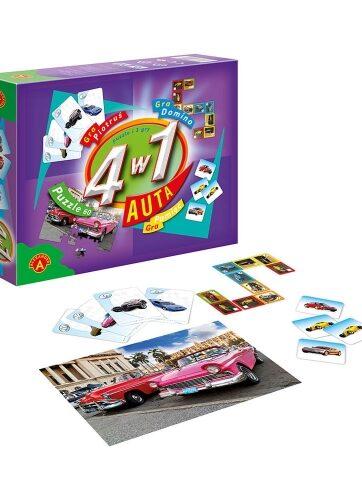 Zdjęcie Alexander Gry i puzzle 4w1 Auta - producenta ALEXANDER