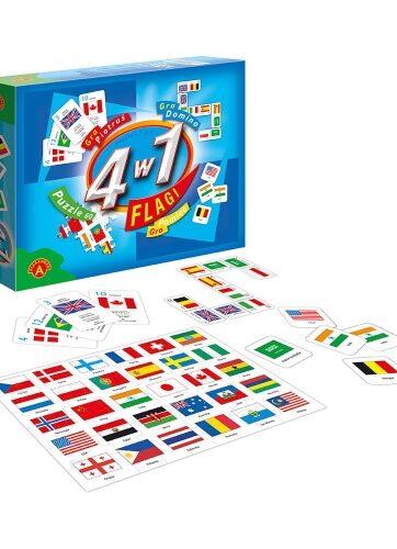 Zdjęcie Alexander Zestaw gry i puzzle 4 w 1 Flagi - producenta ALEXANDER