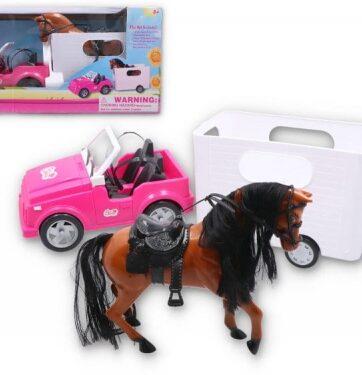 Zdjęcie Autko jeep z przyczepką i koniem - producenta GAZELO