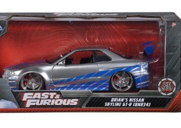 Zdjęcie Auto Fast&Furious Szybcy i wściekli 2002 Nissan Skyline 1:24 - producenta DICKIE