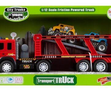 Zdjęcie Auto ciężarowe z lawetą i 2 pojazdami - producenta EURO-TRADE