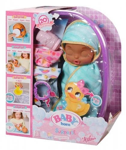 Zdjęcie BABY born® Surprise Big Baby Lalka zmieniająca kolor włosów + wanienka - producenta ZAPF CREATION