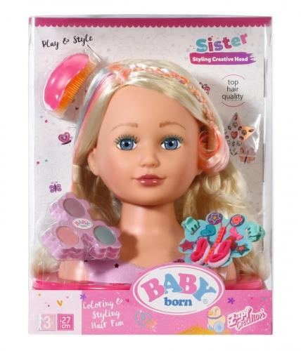 Zdjęcie BABY born® starsza siostrzyczka - głowa do stylizacji - producenta ZAPF CREATION