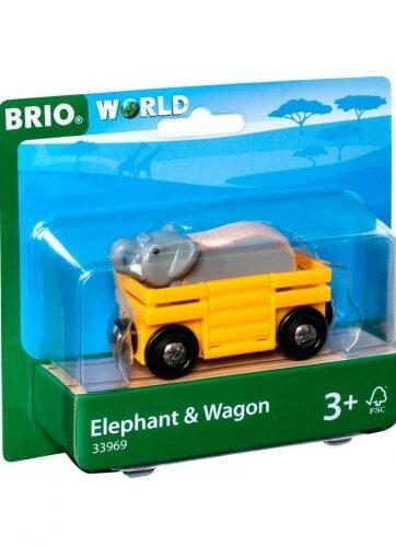 Zdjęcie BRIO 33969 Słoń w wagoniku - producenta RAVENSBURGER