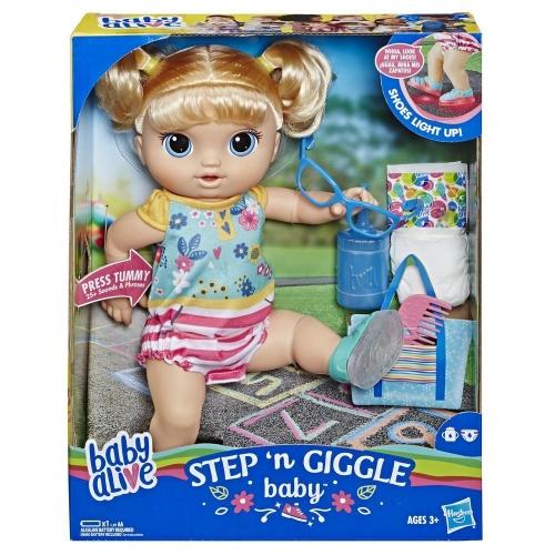 Zdjęcie Baby Alive Step n Giggle dziewczynka (blondynka) - Hasbro - producenta HASBRO