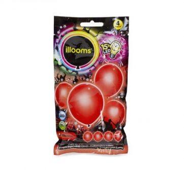 Zdjęcie Balony LED 4-pak czerwone - producenta TM TOYS