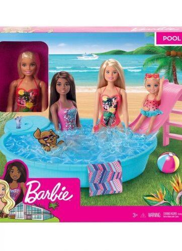 Zdjęcie Barbie - zestaw lalka z basenem - producenta MATTEL
