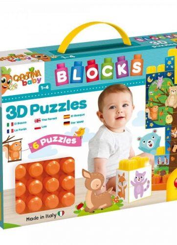 Zdjęcie Carotina Baby - klocki konstrukcyjne puzzle z obrazkami - producenta LISCIANI GIOCHI