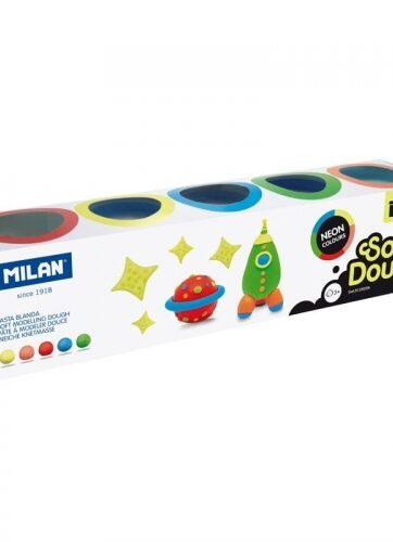 Zdjęcie Ciastolina neonowa 5 kolorów Milan - producenta MILAN