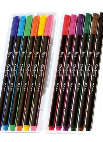Zdjęcie Cienkopisy 12 kolorów trójkątne - producenta TETIS