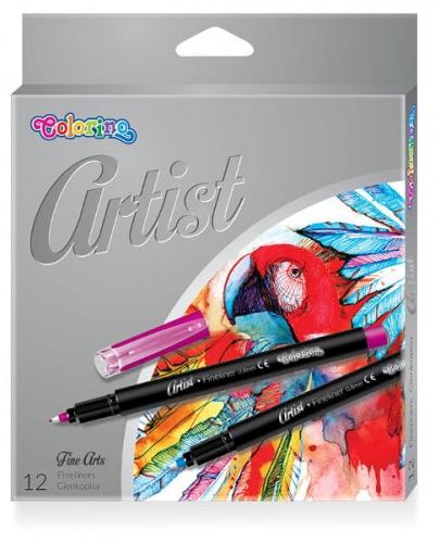 Zdjęcie Cienkopisy z plastikową końcówką 12 kolorów - Colorino Kids - producenta PATIO