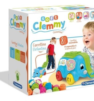 Zdjęcie Clementoni Clemmy Słoń wózek - producenta CLEMENTONI