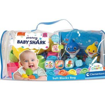 Zdjęcie Clementoni Clemmy miękkie Klocki w torbie Baby Shark - producenta CLEMENTONI
