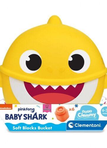 Zdjęcie Clementoni Clemmy miękkie klocki wiaderko Baby Shark - producenta CLEMENTONI