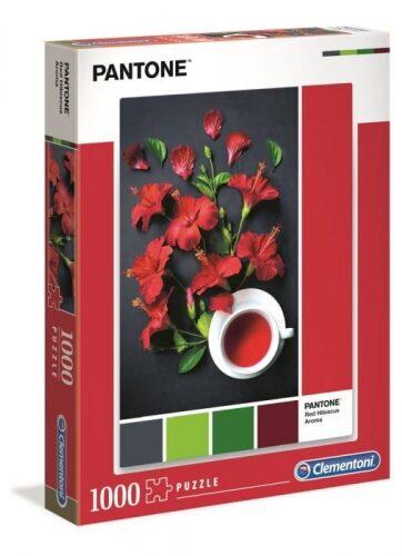 Zdjęcie Clementoni Puzzle 1000el - PANTONE Czerwony hibiskus - producenta CLEMENTONI