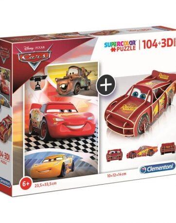 Zdjęcie Clementoni Puzzle 104el + 3D MODEL Auta - producenta CLEMENTONI