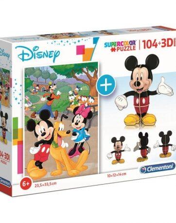 Zdjęcie Clementoni Puzzle 104el + 3D MODEL Myszka Miki - producenta CLEMENTONI