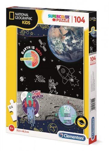 Zdjęcie Clementoni Puzzle 104el National Geographic Kids Space Explorer - producenta CLEMENTONI