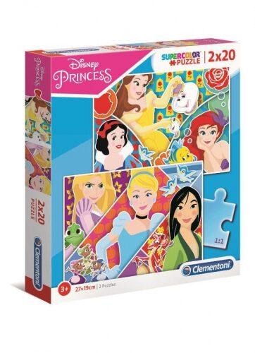 Zdjęcie Clementoni Puzzle 2x20el Princess Księżniczki - producenta CLEMENTONI