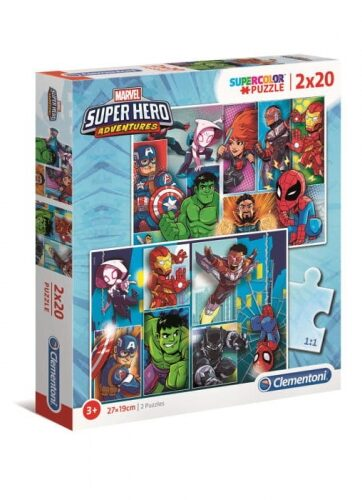 Zdjęcie Clementoni Puzzle 2x20el Super Hero Adventures - producenta CLEMENTONI