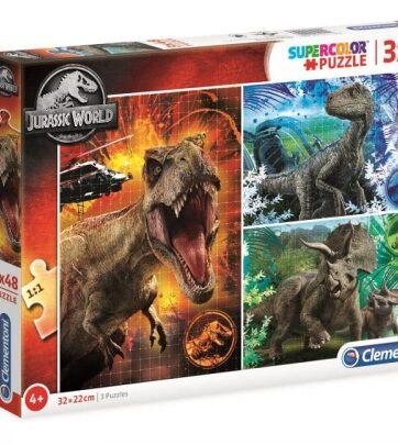 Zdjęcie Clementoni Puzzle 3x48el Jurassic World - producenta CLEMENTONI