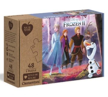 Zdjęcie Clementoni Puzzle 3x48el Play for future - Kraina Lodu 2 - producenta CLEMENTONI