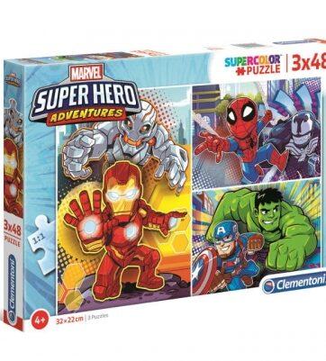 Zdjęcie Clementoni Puzzle 3x48el Super Hero Adventures - producenta CLEMENTONI