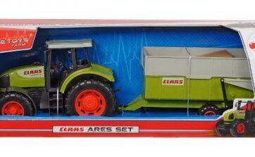 Zdjęcie Dickie FARM Traktor CLAAS Ares z przyczepką 57cm - producenta DICKIE