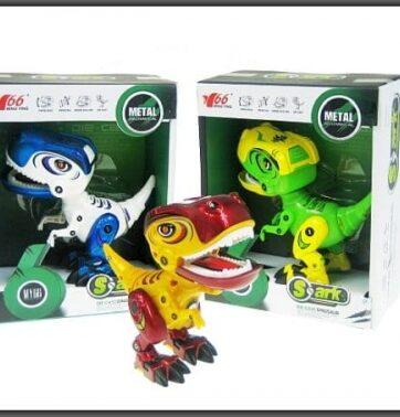 Zdjęcie Dinozaur na baterie 14cm (3 kolory do wyboru) - producenta HIPO