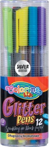 Zdjęcie Długopisy brokatowe trójkątne 12 kolorów - Colorino Kids - producenta PATIO