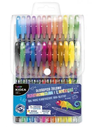 Zdjęcie Długopisy żelowe 24 kolory Kidea - producenta DERFORM