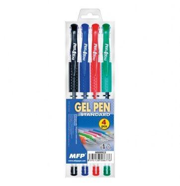 Zdjęcie Długopisy żelowe 4 kolory - producenta MFP