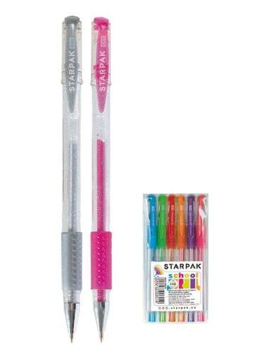 Zdjęcie Długopisy żelowe 6 kolorów brokatowe pachnące - producenta STARPAK