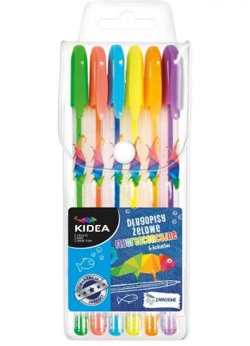 Zdjęcie Długopisy żelowe fluo 6 kolorów Kidea - producenta DERFORM