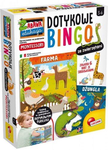 Zdjęcie Dotykowe bingo ze zwierzętami - Montessori - Lisciani - producenta LISCIANI GIOCHI