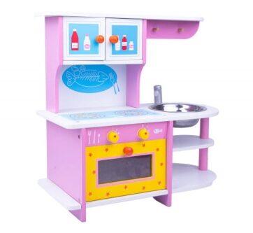Zdjęcie Drewniana kuchnia dla dzieci różowa - producenta NORIMPEX
