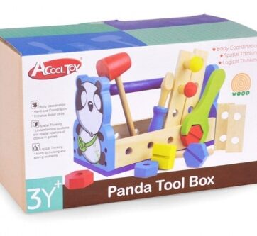 Zdjęcie Drewniana skrzynka z narzędziami Panda - producenta ARTYK