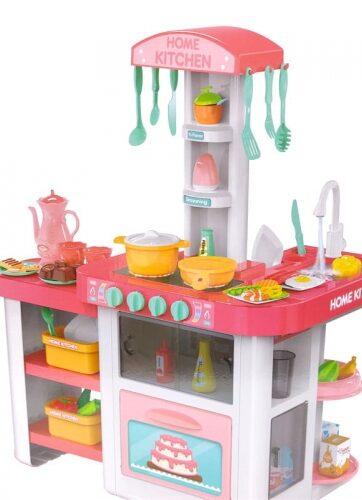 Zdjęcie Duża kuchnia różowa na baterie z akcesoriami - producenta NORIMPEX