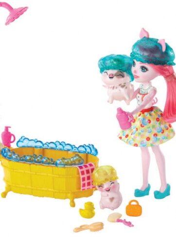 Zdjęcie Enchantimals - zestaw radosna kąpiel ze świnkami - producenta MATTEL