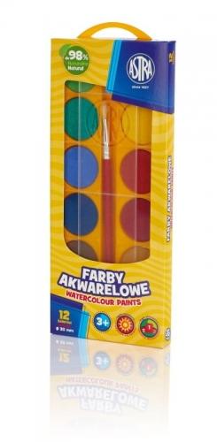 Zdjęcie Farby akwarelowe 12 kolorów 30mm ASTRA - producenta ASTRA