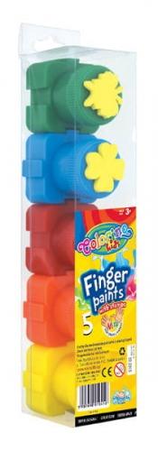 Zdjęcie Farby do malowania palcami 5 kolorów - Colorino Kids - producenta PATIO
