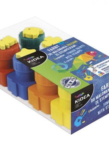 Zdjęcie Farby do malowania palcami ze stempelkami 8szt - producenta DERFORM