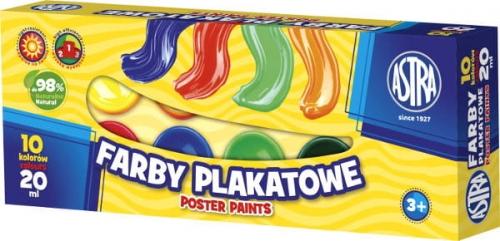 Zdjęcie Farby plakatowe 10 kolorów ASTRA - producenta ASTRA