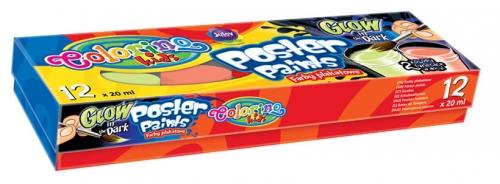 Zdjęcie Farby plakatowe 12 kolorów glow - Colorino Kids - producenta PATIO