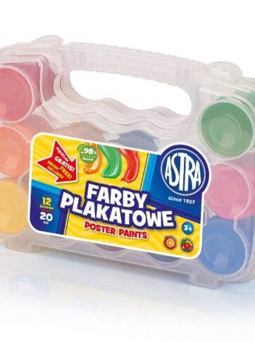 Zdjęcie Farby plakatowe 12 kolorów w walizce ASTRA - producenta ASTRA