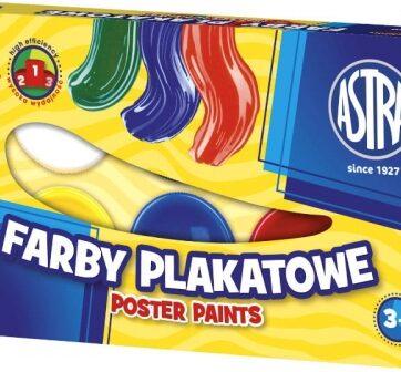 Zdjęcie Farby plakatowe 6 kolorów 10ml - Astra - producenta ASTRA