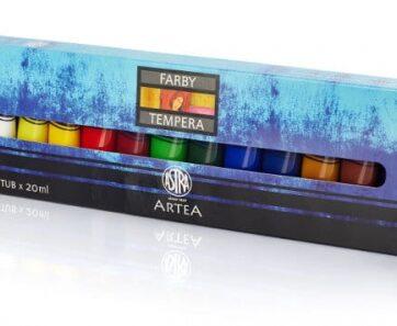 Zdjęcie Farby tempera 12 kolorów 20ml - Astra - producenta ASTRA