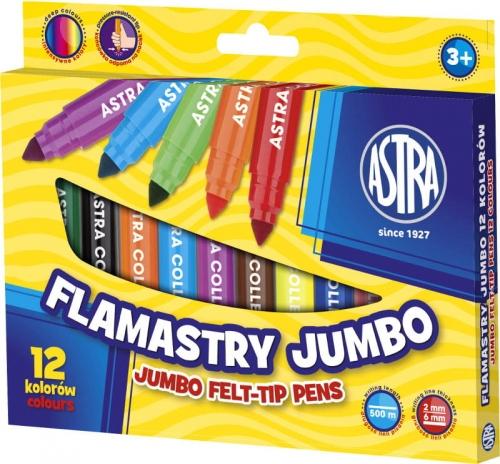Zdjęcie Flamastry Jumbo 12 kolorów - Astra - producenta ASTRA