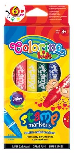 Zdjęcie Flamastry dwustronne z pieczątkami 6 kolorów - Colorino Kids - producenta PATIO