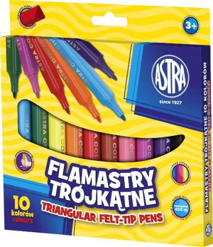 Zdjęcie Flamastry trójkątne Jumbo 10 kolorów ASTRA - producenta ASTRA